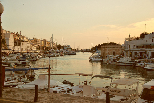 Boat and Sailing harbour Menorca